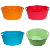 Large Round Plastic Tub With 2 Handles - 2
