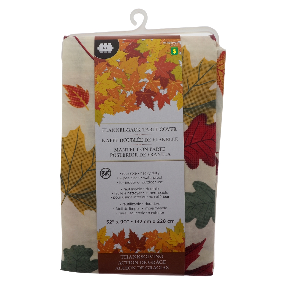 Fall Printed Flannelback Vinyl Tablecover