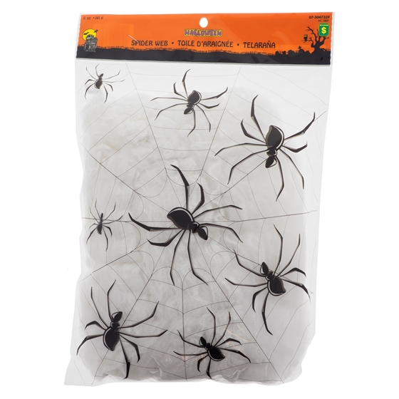 White Spider Webs with Spiders - 5 oz