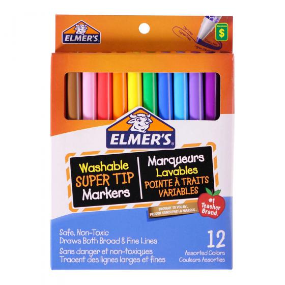 Washable Super Tip Markers (Assorted colours)