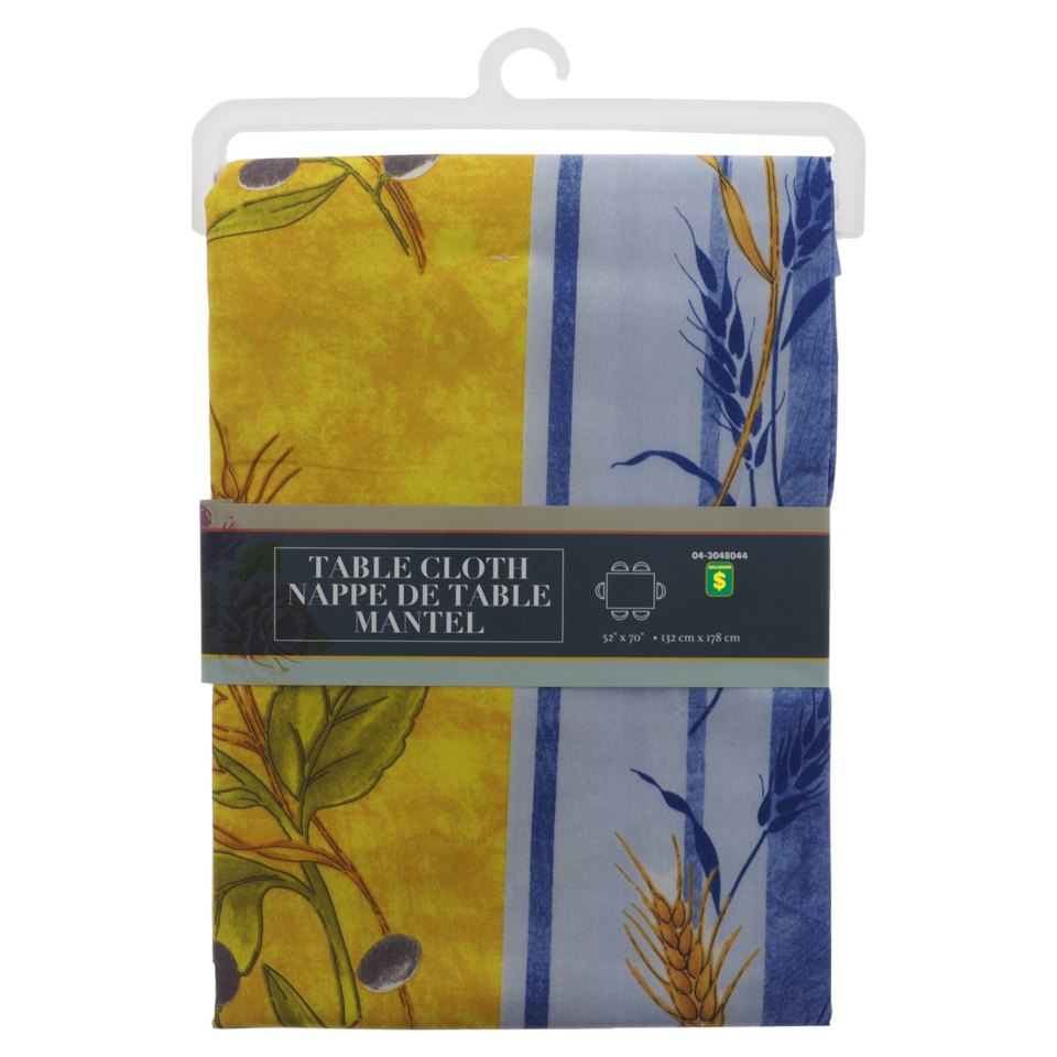 Rectangular Printed Polyester Tablecloth (Assorted designs)
