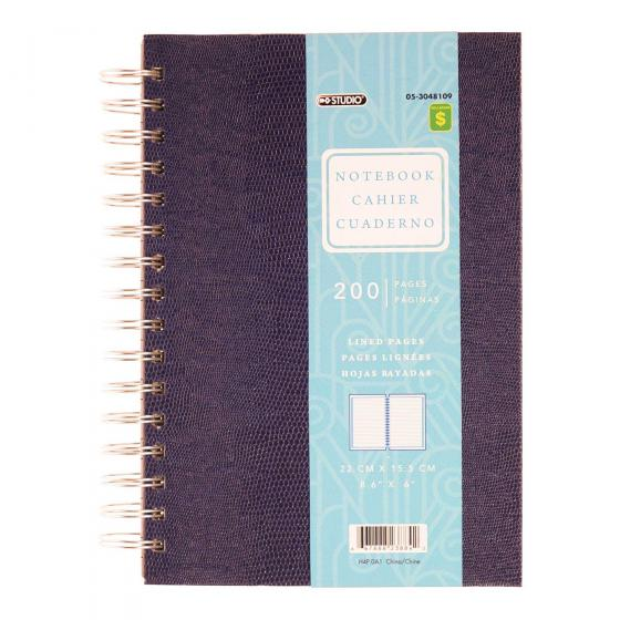 Spiral Bound Textured Notebook (Assorted Colours)