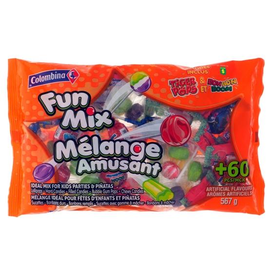Mélange amusant de bonbons