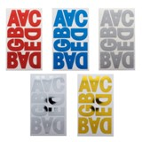 8 Sheets Alphabet Stickers - 1