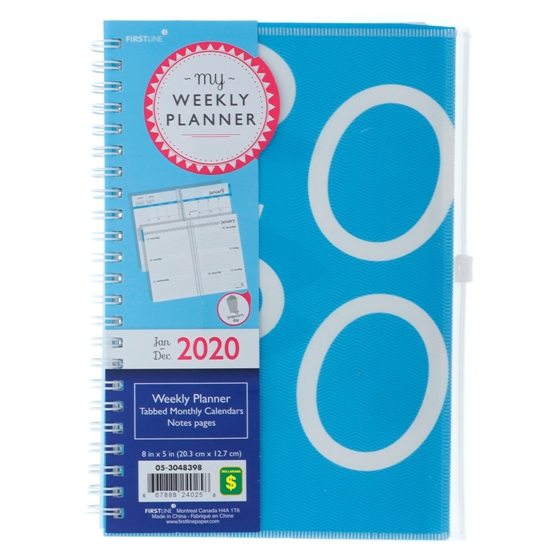 Weekly-Monthly Planner Notebook with Tabs - English