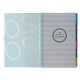 Weekly-Monthly Planner Notebook with Tabs - English - 2