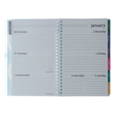 Weekly-Monthly Planner Notebook with Tabs - English - 3