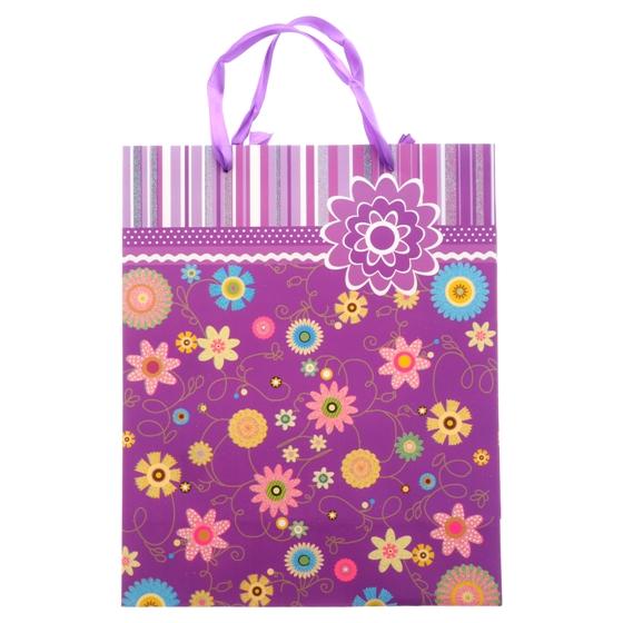 Grand sac cadeau (Motifs assortis)