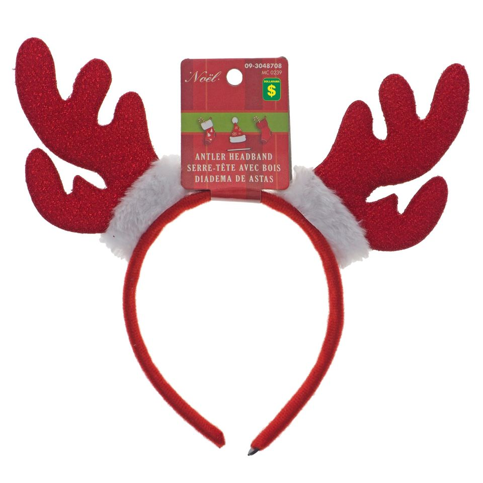 Felt Headband With Reindeer Antlers