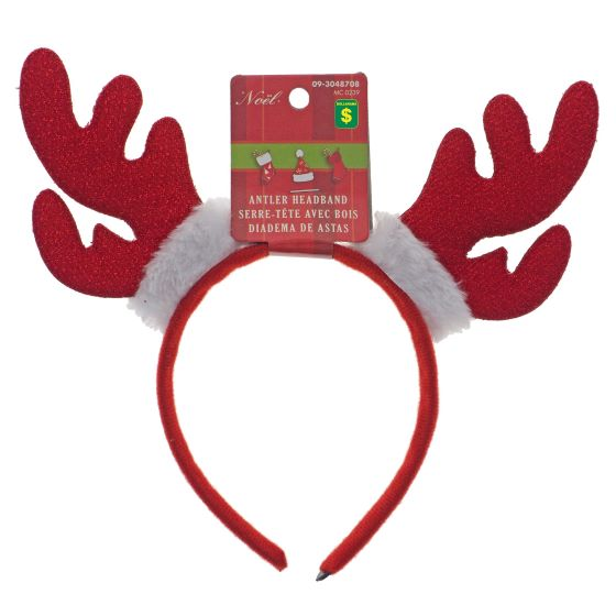Serres-tête de Noël avec bois de renne