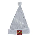 Sequin Santa Hat with Pompom - 0