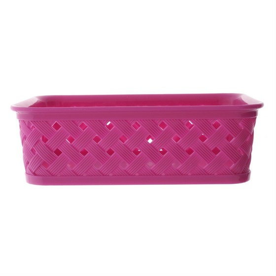Small Plastic Woven Basket (Assorted colours)