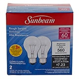 A19 60W Clear Long Life Bulbs 2PK - 0