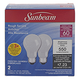 2PK A19 60W Frosted Long Life Bulbs - 0