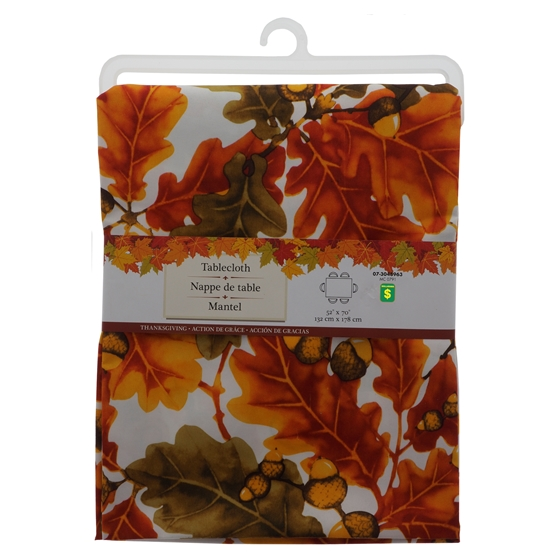 Thanksgiving Printed Tablecloth