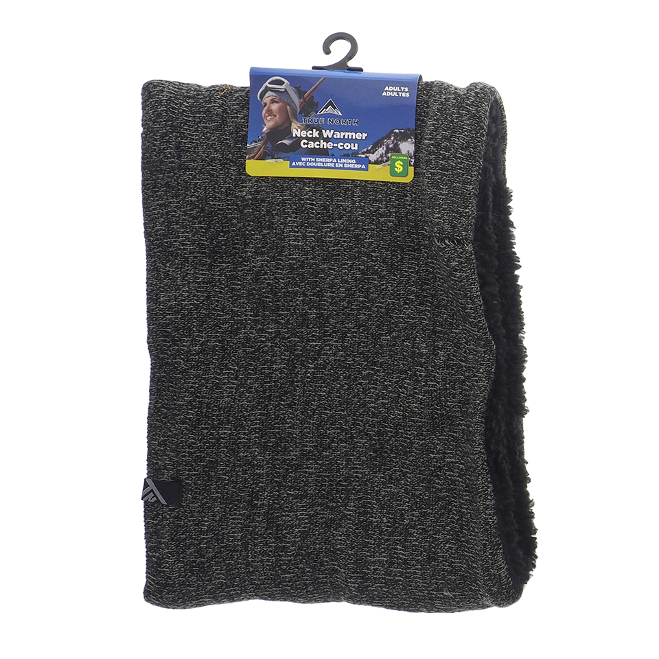 Knitted Neck Warmer with Sherpa Lining