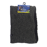 Knitted Neck Warmer with Sherpa Lining - 0