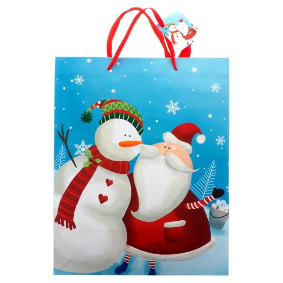 Grand sac à cadeau avec paillettes (Couleurs et motifs assortis)