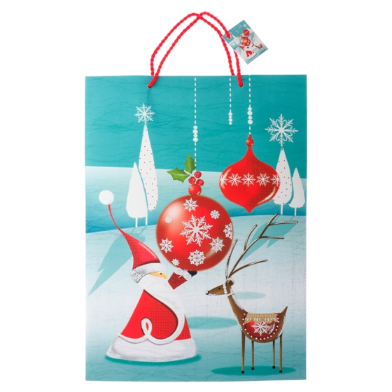 Gift Bag Jumbo with Glitter or Foil Finish (Assorted Colours and Patterns)
