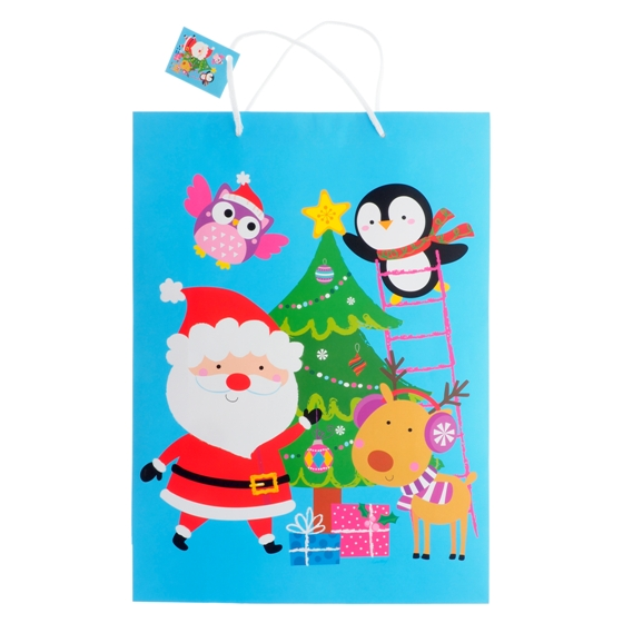 Gift Bag Jumbo with Matte or Glossy (Assorted Colours and Patterns)