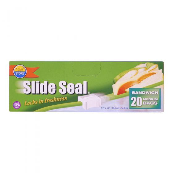 Slide Seal Sandwich Bags 20PK