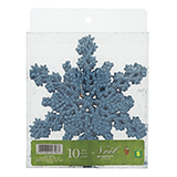 10Ct Glittered Snowflakes In A Pet Box - 1