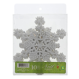 10Ct Glittered Snowflakes In A Pet Box - 3