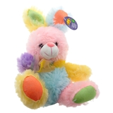 Easter Multi coloured Plush bunny - 0
