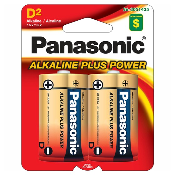 2x D Alkaline Batteries