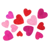 Glitter Self Adhesive Hearts - 1