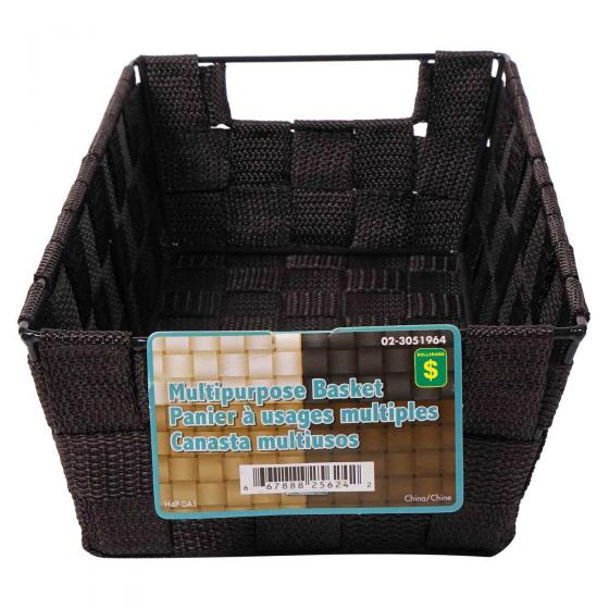 Multi-Purpose Woven Basket with Handles (Assorted colours)