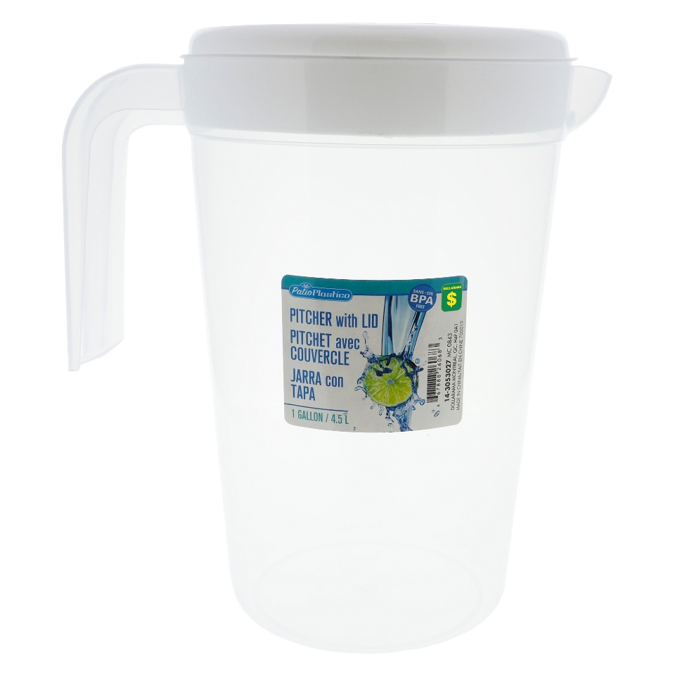 1 Gal. Plastic Pitcher with Lid
