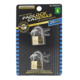 2PK Brass Padlocks - 0