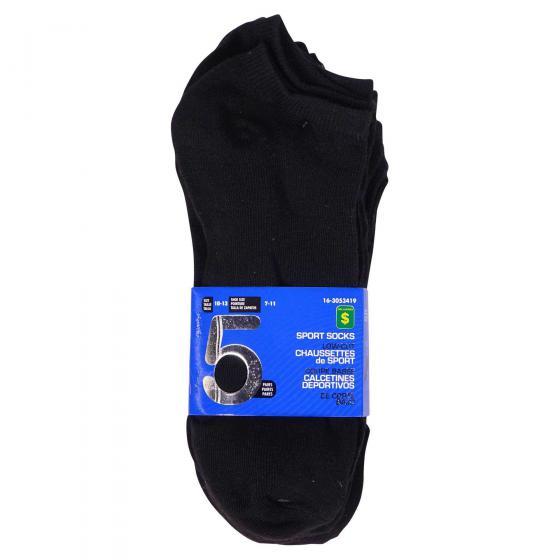 5 Paires de chaussettes pour hommes à coupe basse (Couleurs assorties)