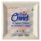Square Disposable Dinner Plates 16PK - 0
