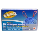 10PK Clear Blue Recycling Kitchen Bags - 1