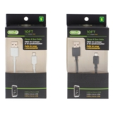 Charge and Sync USB to Micro USB 10' Cable (Assorted colours) - 1