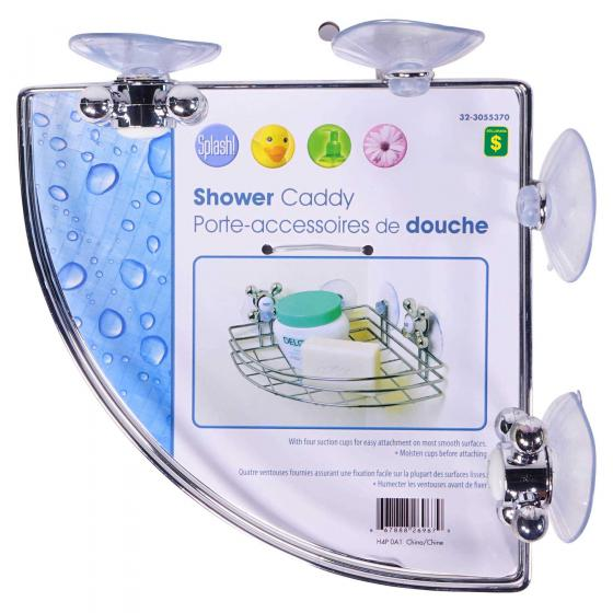 Chrome Plated Shower Corner Caddy