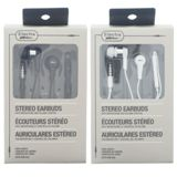 Stereo Earbuds with Microphone and Volume Control (Assorted colours) - 1