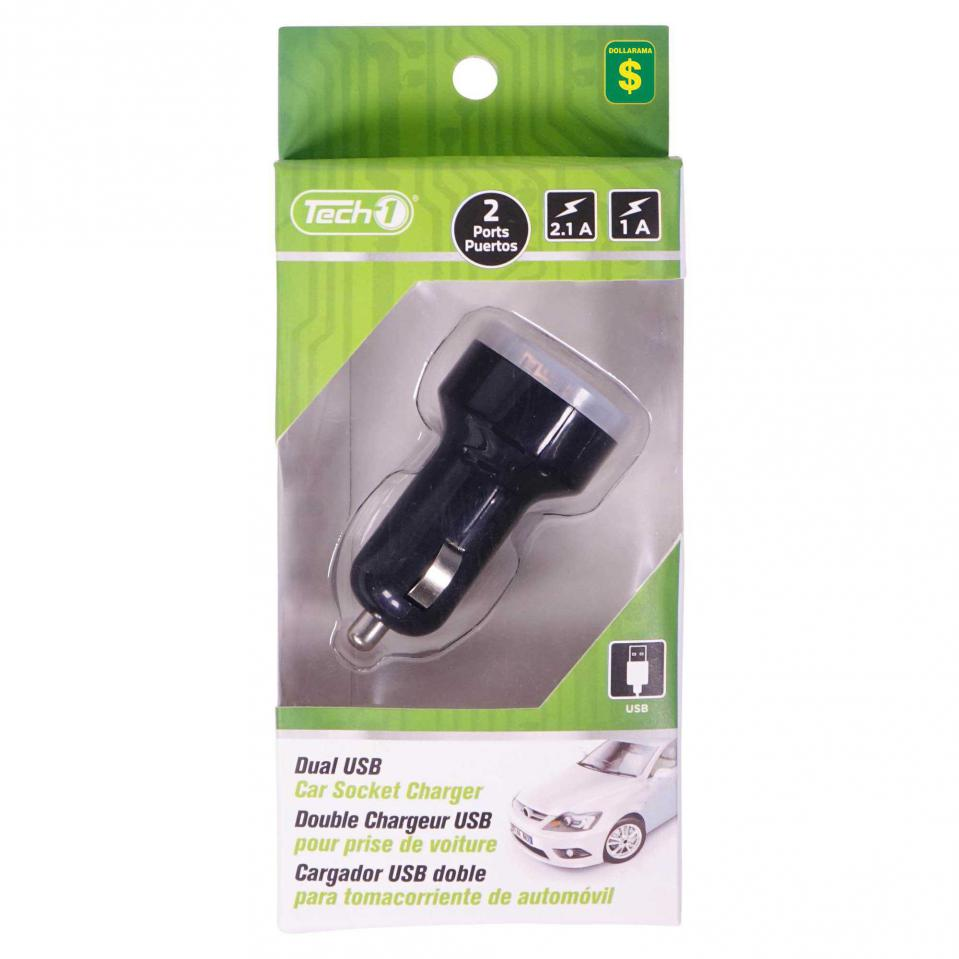Dual USB Car Socket Charger (Assorted colours)