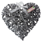Decorative Rattan Heart (Assorted Colours) - 0