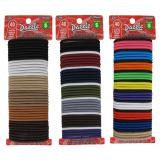 40PK Thick Hair Elastics (Assorted colours) - 1
