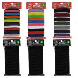 40PK Thick Hair Elastics (Assorted Colours) - 2