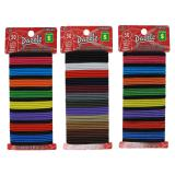 50PK Hair Elastics (Assorted colours) - 1