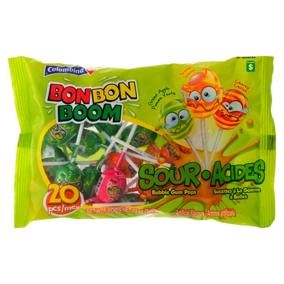 Bubble Gum Pops Sour 20PK