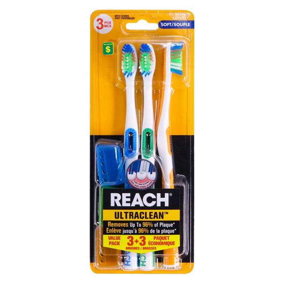 3PK Toothbrushes (Assorted Colours)
