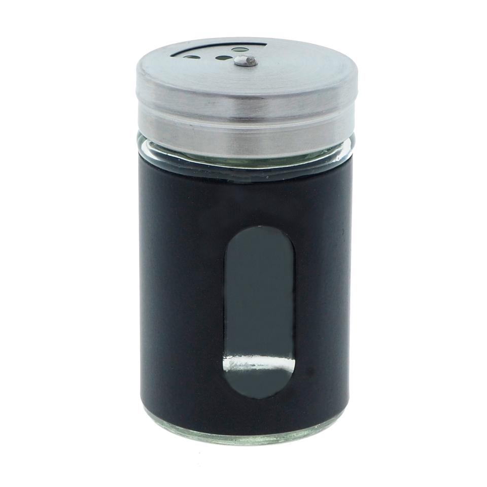 Salt & Pepper Shaker with Glass Window (Assorted Colours)