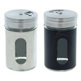 Salt & Pepper Shaker with Glass Window (Assorted Colours) - 1