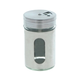 Salt & Pepper Shaker with Glass Window (Assorted Colours) - 2