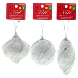 Christmas Tree Ornament with Pearl Finish (Assorted Shapes) - 1